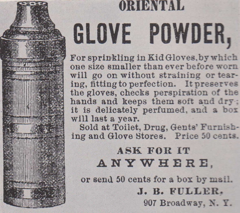 Oriental glove powder